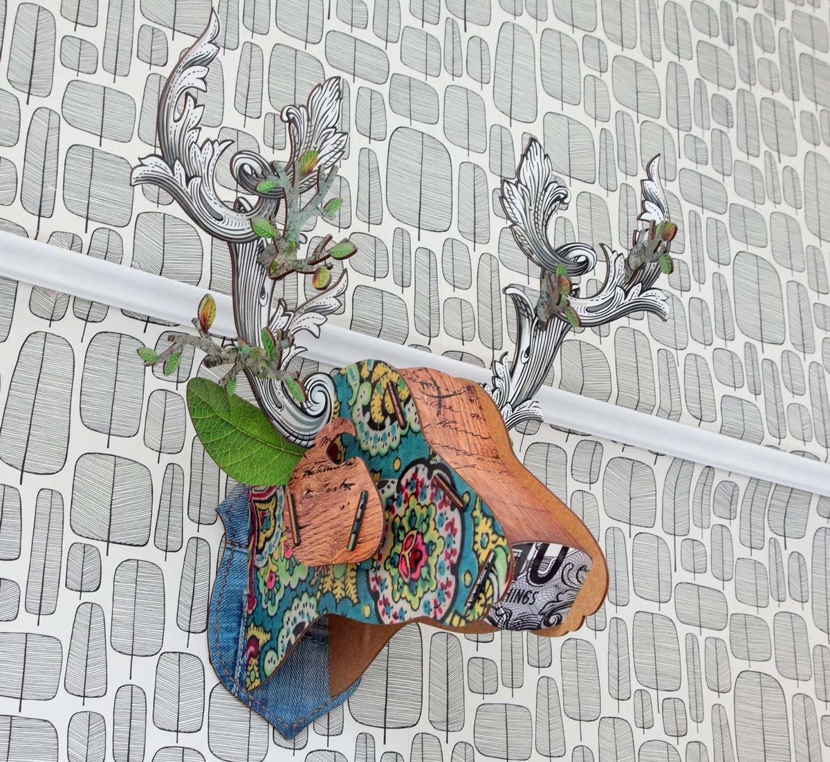 Sculpture of Deer Head
