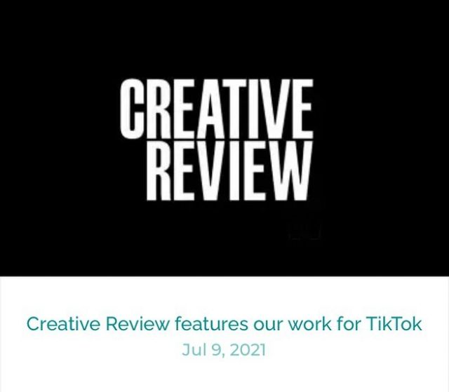 Great to see @creativereview featuring our work for @tiktok – what a fab project it was, hopefully more like this to come!  Link in bio x  #postproduction #tiktok #flame #gfx #colourgrading #colourgrade #colorgrading #colorgrade #vfx #audio #sounddesign #audiopost #videopost #tiktok #website