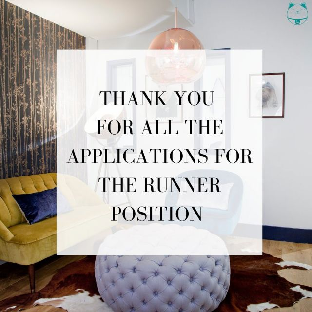Due to the high volume of applications we were unable to get back to everyone and could only respond to those who were most suitable.  However, we wanted to say thank you to everyone who applied for the runner position! Amazing people out there 🙌😺  #postproduction #soho #runner #postproductionrunner #broadcast #tv #videopost #london #londonjobs #website