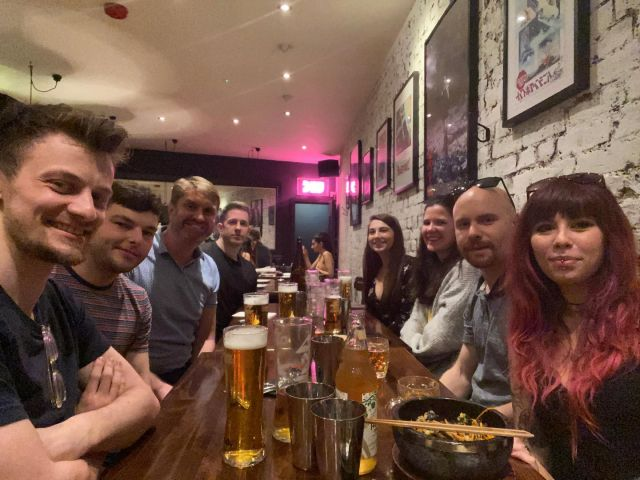 The gang went out last night for some amazing food and drinks 🍻🍚  🏷  #team #dinner #shackfuyu #soho #london #outout #postproduction #japanesefood #videopost #luckycat #website